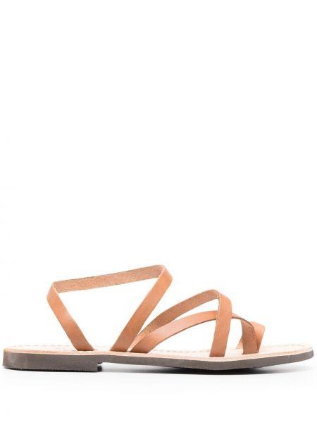 С ремешком коричневые кожаные сандалии P.a.r.o.s.h.