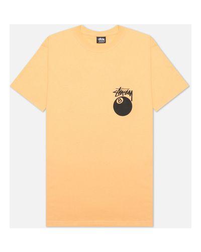 Хлопковая оранжевая футболка Stussy
