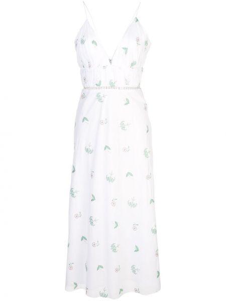 Тонкое платье с вышивкой с открытой спиной на бретелях Markarian