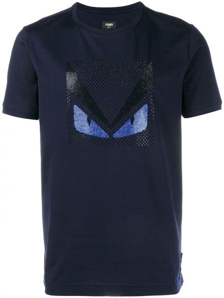 Koszula dzinsowa biznes niebieski Fendi