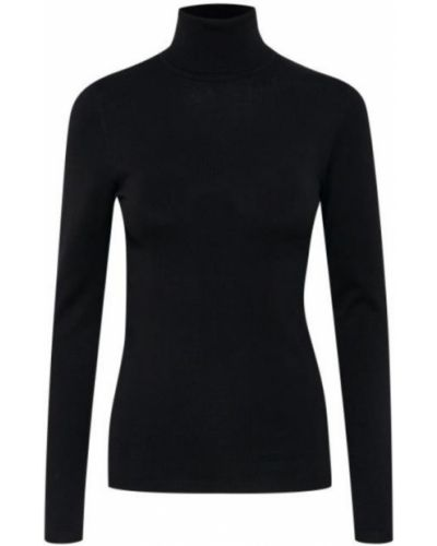 Czarna t-shirt z długimi rękawami Ichi