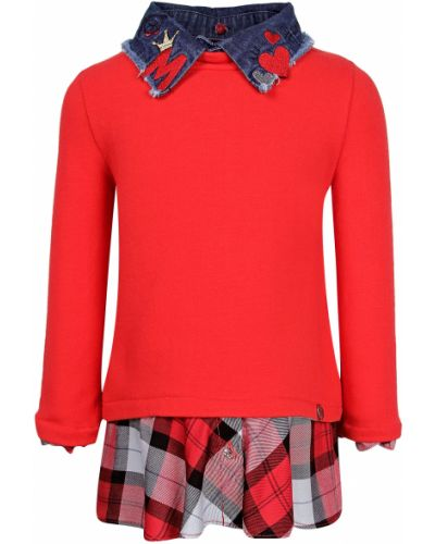 Хлопковый красный свитшот Elsy
