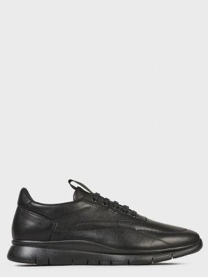 Кожаные кроссовки - черные Frau