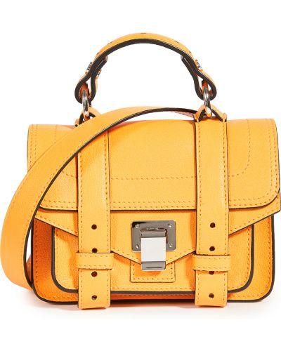Кожаный ранец с карманами с заплатками Proenza Schouler