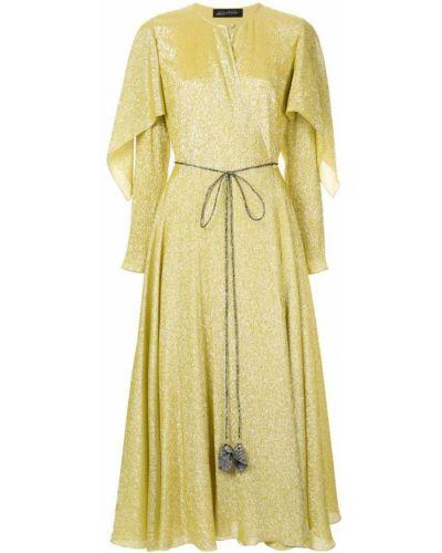 Платье с запахом - желтое Anna October