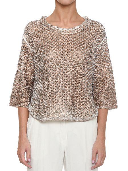 Хлопковая блузка - золотая Rene Lezard