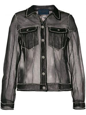 Черная куртка прозрачная с воротником Viktor & Rolf