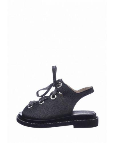 Кожаные черные сандалии Cliford