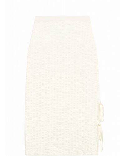 С завышенной талией трикотажная юбка миди на резинке Stefanel