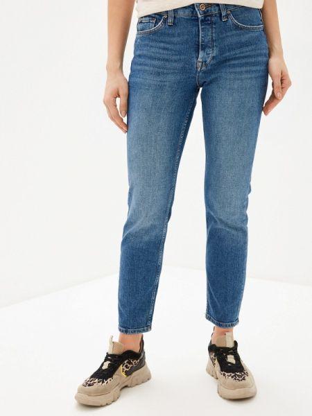Синие джинсы-скинни с пайетками Colin's