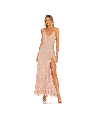 Вечернее платье сетчатое на молнии Michael Costello