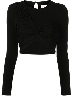 Блузка с вырезом - черная Cinq À Sept