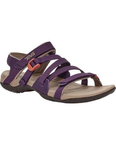 Фиолетовые текстильные спортивные сандалии Teva