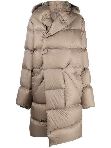 Bawełna wełniany klasyczny płaszcz z kapturem za pełne Rick Owens