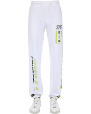Białe joggery bawełniane Still Good
