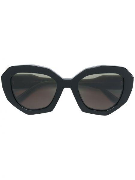 Прямые черные солнцезащитные очки Marni Eyewear