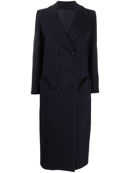 Шерстяное черное пальто классическое двубортное Blazé Milano