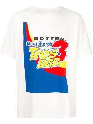 Biały t-shirt bawełniany krótki rękaw Botter