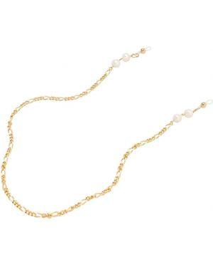 Złote żółte okulary perły Aym