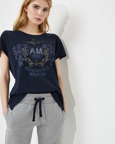 Синяя футболка Aeronautica Militare