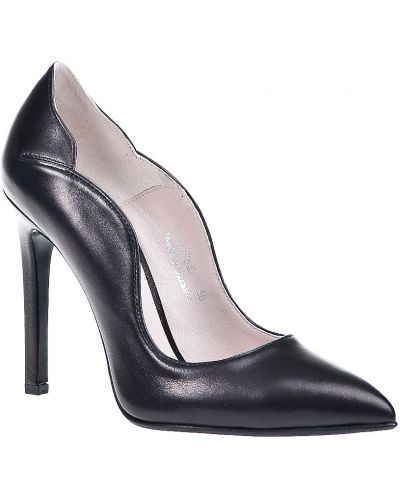 Кожаные туфли осенние на каблуке Gianni Famoso