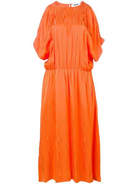 Платье миди с разрезами по бокам с поясом Msgm