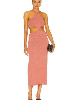 Хлопковое платье - розовое Cult Gaia
