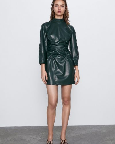 Платье мини короткое - зеленое Zara