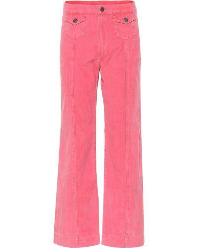 Розовые классические брюки с карманами Mih Jeans