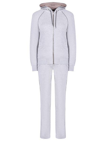 Шелковый костюм - серый Capobianco