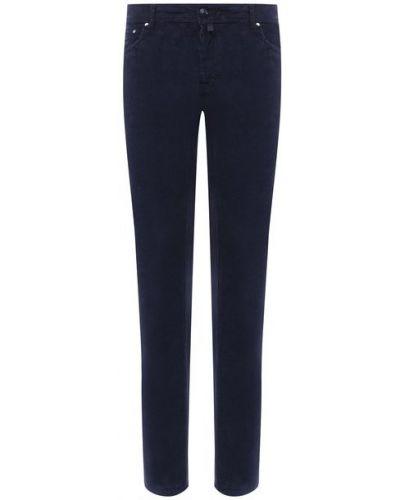 Хлопковые синие брюки Jacob Cohen