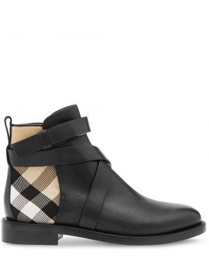 Шерстяные домашние черные ботинки на каблуке на каблуке Burberry