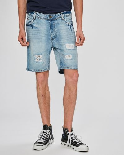 Джинсовые шорты хлопковые на пуговицах Brave Soul