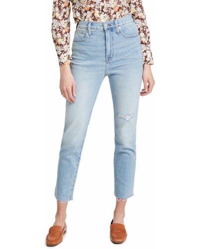 Синие прямые джинсы с карманами Madewell