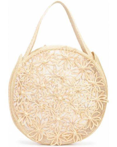 Beżowa torebka z haftem Cult Gaia