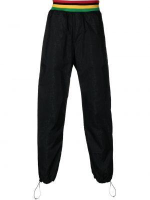 Czarne spodnie z printem Palm Angels