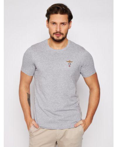 Szara t-shirt Aeronautica Militare