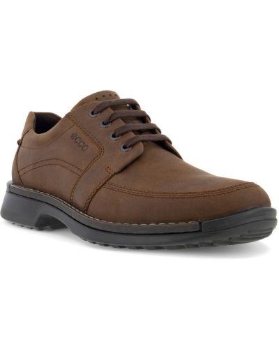 Коричневые туфли на шнуровке Ecco