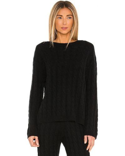 Повседневный черный шерстяной свитер Lpa