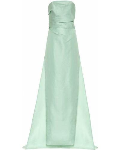 Шелковое платье - зеленое Monique Lhuillier