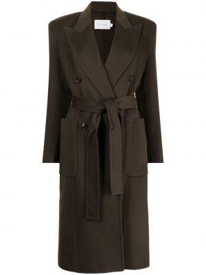 Коричневое шерстяное пальто Low Classic