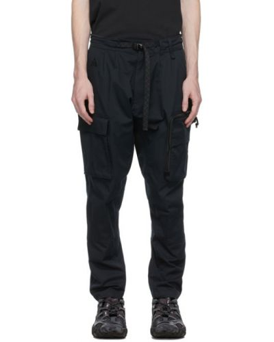 Czarne spodnie bawełniane z paskiem Nike Acg