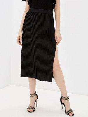 Черная плиссированная юбка Adl