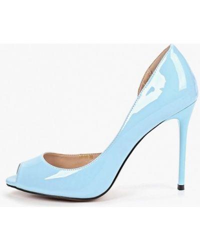 Кожаные туфли - голубые Teetspace