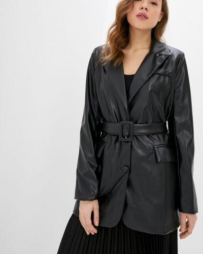 Черная кожаная куртка Miss Gabby