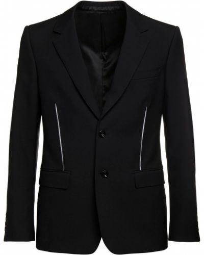 Пиджак с манжетами с вырезом с подкладкой из габардина Alexander Mcqueen