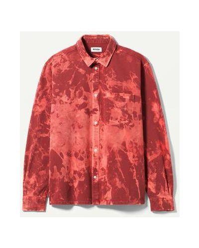 Красная флисовая рубашка Weekday