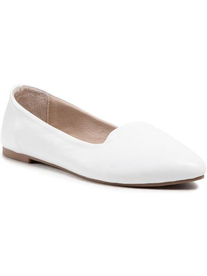 Białe balerinki Badura