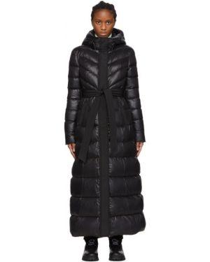 Пальто с капюшоном длинное стеганое Mackage