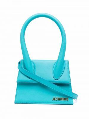 Кожаная сумка - синяя Jacquemus